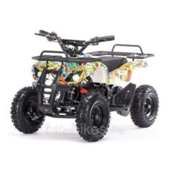 Детский квадроцикл на аккумуляторе MOTAX Mini Grizlik Х-16 мощностью 800W бомбер (пульт контроля, до 30 км/ч)